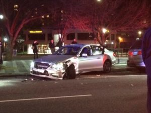 Wrong-way driver strikes pedestrian in Clarendon (Photo courtesy @jacksmith023)