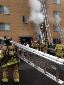 Apartment fire on S. Greenbrier Street (photo courtesy @itsjustmejona)