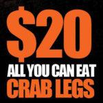 Crab legs at Wilson Tavern
