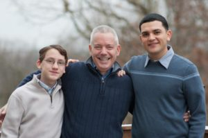 Greg Greeley and his sons (courtesy photo)