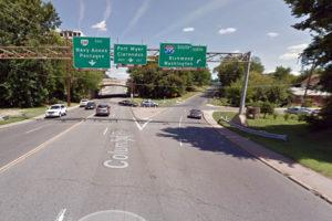 Interchange of Columbia PIke and I-395 (via Google Maps)