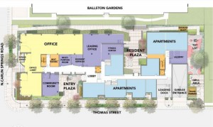 Overhead diagram of The Springs apartment building proposal