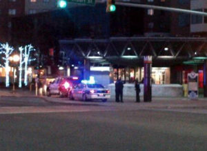 Police respond to suspicious man at Ballston Metro (photo via @SRod17)