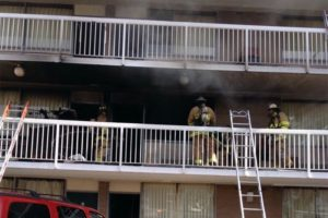 Fire at the Days Inn motel on Columbia Pike