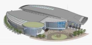 Rendering of Phase 4 of the Long Bridge Park Aquatics, Health & Fitness Facility