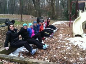 McLean ladies snow dips (photo via Ginny Wright)
