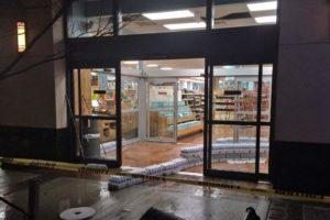 Broken water pipe at Trader Joe's in Clarendon