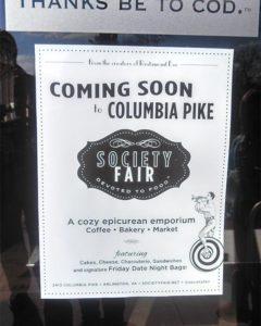 Society Fair announcement on the front of Eamonn's (courtesy photo)