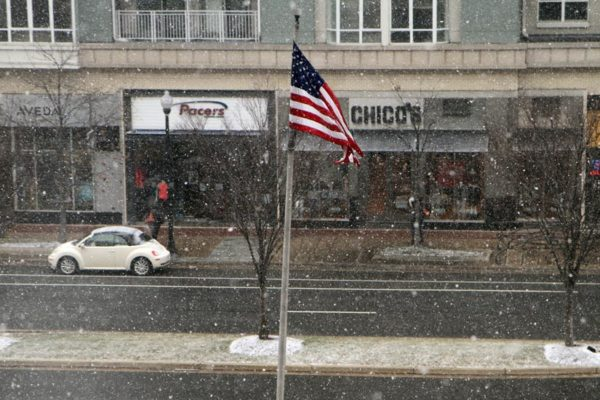 Snow in Pentagon City on 1/21/14