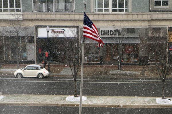 Snow in Pentagon City on 1/21/14
