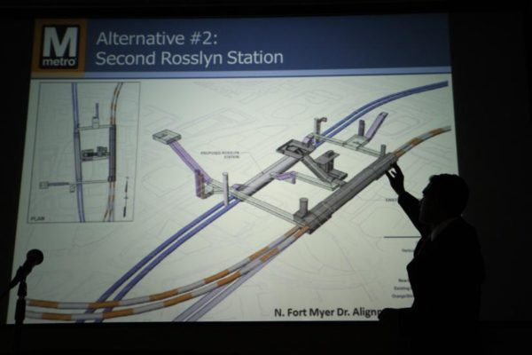 Rendering of second Rosslyn Metro station