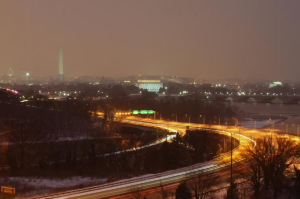 Snowy night (Flickr pool photo by BrianMKA)