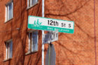 Bike Boulevard signs at 12th Street S.