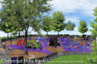 A rendering of the new Chestnut Hills Park playground