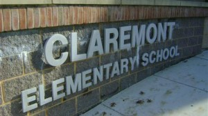 Claremont Immersion School's sign