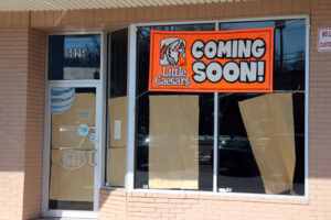 Little Caesars pizza sign on Columbia Pike