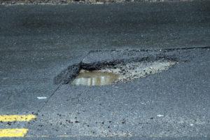 Pothole on Lorcom Lane (file photo)