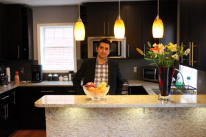 Renovisor Founder Asif Virani in the kitchen that inspired his business
