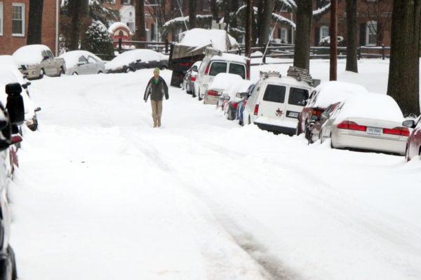 Snow covers Arlington, Feb. 13, 2014