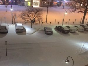 Overnight snow in Pentagon City