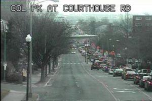 Traffic backups on Columbia Pike