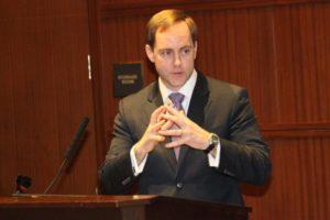 Alan Howze at an Arlington County Democratic Committee debate