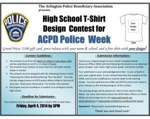 2014 ACPD T-shirt Design Contest flyer