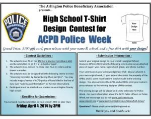 2014 ACPD T-shirt Design Contest flyer