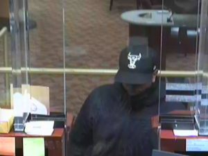 Suspect in the robbery of a Capital One branch on Columbia Pike (photo courtesy ACPD)
