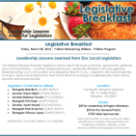Legislative Breakfast Flyer