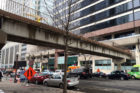 The skybridges over N. Lynn and N.  Moore Streets that are set for demolition