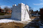12-foot snow fort in Leeway-Overlee (photo courtesy Christina Grieg)