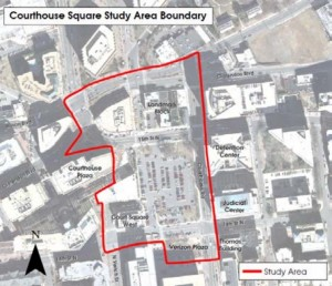 Courthouse Square map