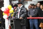 Bill Cosby at the Ben's Chili Bowl opening in Rosslyn