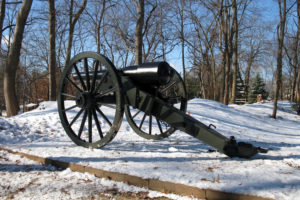 Fort Ethan Allen replica cannon (photo courtesy Arlington County)