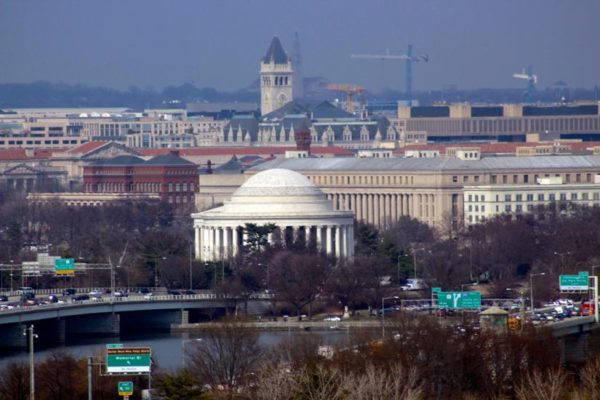 View of the Jefferson Memorial from Arlington (Flickr pool photo by Joseph Gruber)