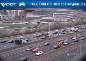 Accident involving a truck on I-395