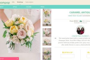 Screenshot of Bloompop Weddings