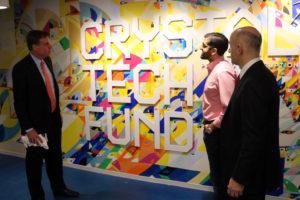 Sen. Mark Warner tours Crystal Tech Fund in Crystal City