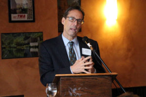 Jay Fisette speaks at a Columbia PIke business luncheon
