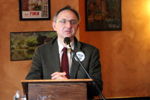 CPRO Executive Director Takis Karantonis speaks at a Columbia PIke business luncheon