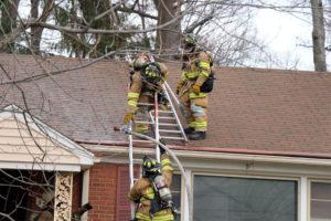 House fire across from Yorktown High School