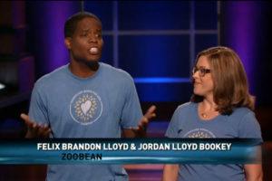 Felix Brandon Lloyd and Jordan Lloyd Bookey of Zoobean on ABC's Shark Tank