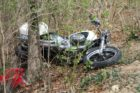 Motorcycle crash on S. Arlington Ridge Road