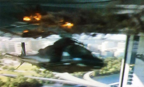 Screenshot from 'Captain America: The Winter Soldier' trailer, showing part of Rosslyn