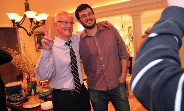 John Vihstadt and campaign manager Eric Brescia
