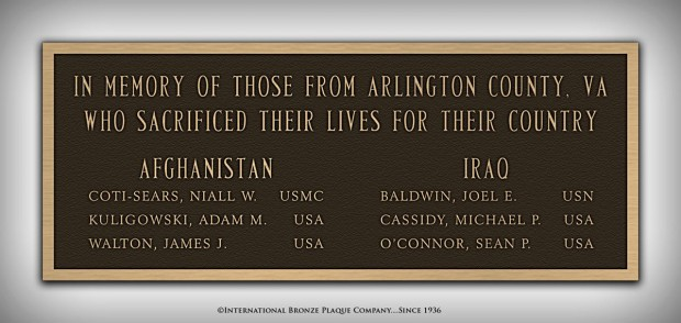 New plaque at the Clarendon War Memorial (photo via Facebook)