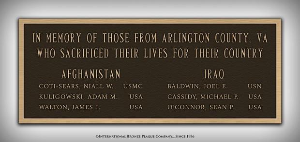 New plaque at the Clarendon War Memorial (photo via Facebook)