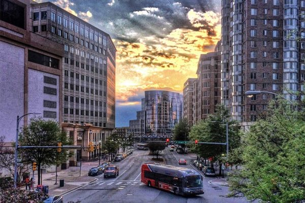 Friday evening in Ballston (Flickr pool photo by Dennis Dimick)