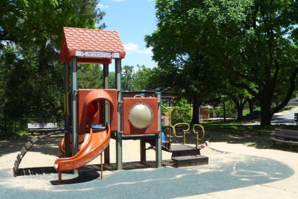 Playground at Lubber Run Community Center (photo via Preservation Arlington)